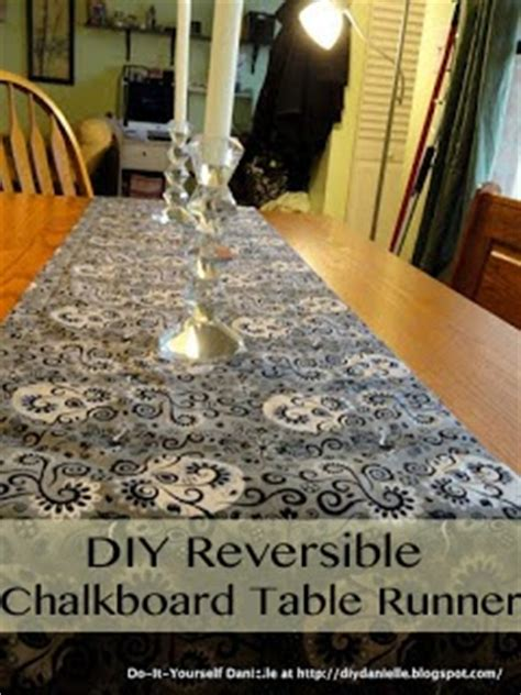 diy chalkboard runner how to sew a gorgeous reversible chalkboard table runner