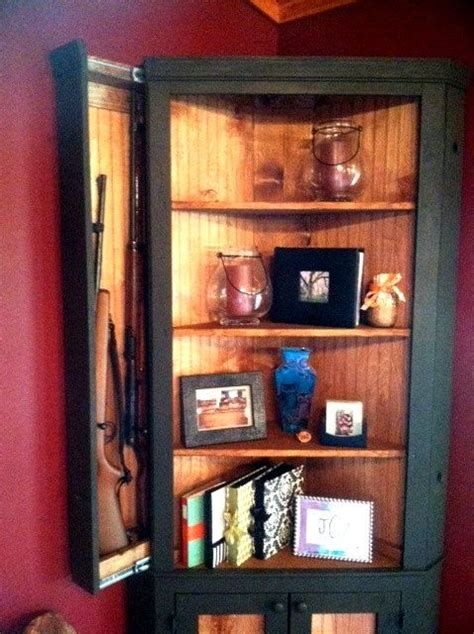 hidden gun cabinet bookcase 1000 images about woodworking workshop ideas