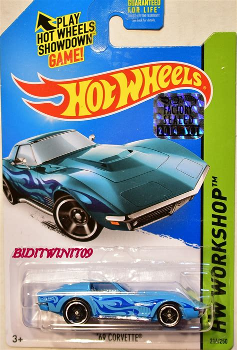 Wheels 69 Corvette Factory Sealed Us Card wheels 2014 hw workshop hw garage 69 corvette blue
