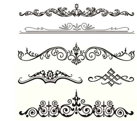 european style lace pattern vector background several europeanstyle lace pattern vector free vector