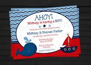 Nautical Baby Shower Invitation Ahoy Ahoy It S A Boy Nautical Baby Shower Invitation By Shestutucutebtq