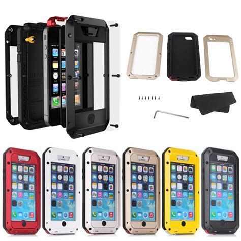 Hardcase Armor Metal Aluminum Luxury Cover Casing Iphone 6 Plus 55 luxury dirtproof shockproof waterproof aluminum metal