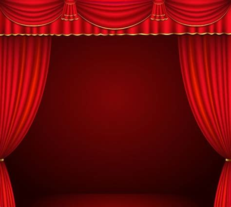 Red Curtain Vector Free Vector In Encapsulated Postscript