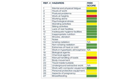 risk scorecard template how to assess reproductive risks 2012 01 04 ishn