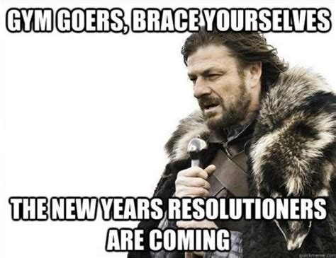 Make A Brace Yourself Meme - new year gym resolution memes gym crowd memes