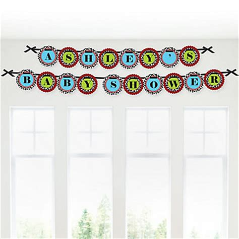 Custom Baby Shower Banners by Farm Animals Personalized Baby Shower Garland Letter