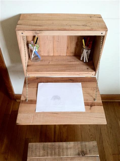 diy fold down desk 20 incredibly useful and adorable kids pallet furniture