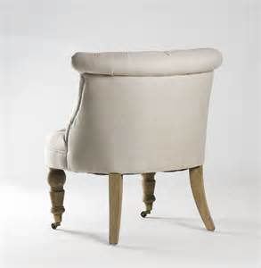slipper chair in linen bathroom vanity chair in