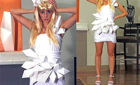 Gaga Origami Dress - diy gaga origami dress