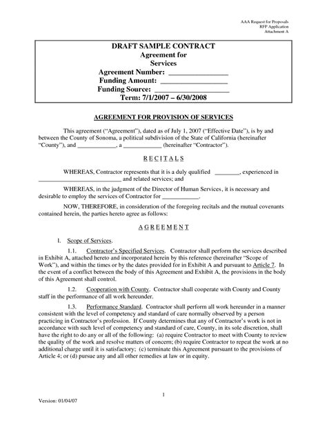 Contract Agreement Letter Pdf Best Photos Of Sle Contract Agreement Template Sle Business Contract Template Sle