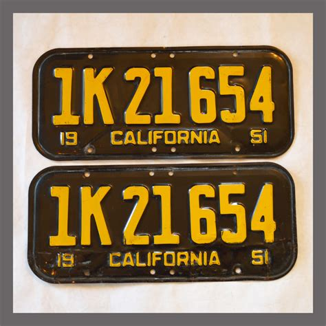 1951 california license plate for sale free software and