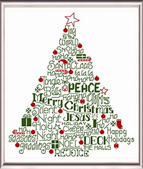 christmas pattern word let s deck the halls cross stitch pattern words