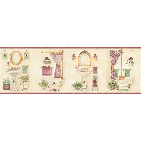 wall paper borders for bathrooms blue mountain vintage bathroom wallpaper border pink