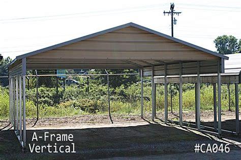 Metal Carport Frame by A Frame Vertical Carports