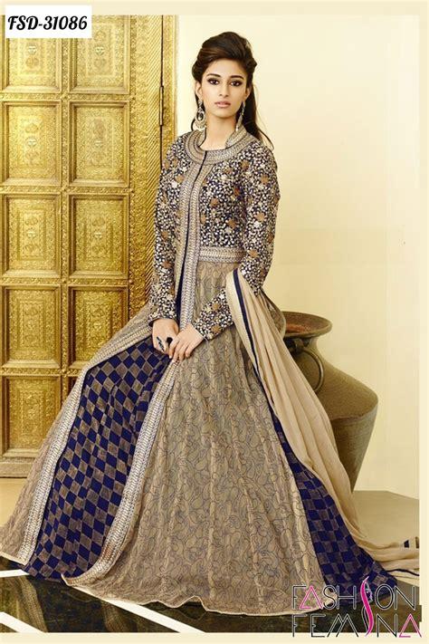 Tunik Zeeta By Dressup 4 Less stunning beige and blue embroidered wear dress