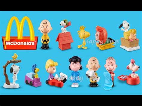 Happy Meal Snoopy Peanut Periode I 2015 the peanuts mcdonald s complete set of 12 happy