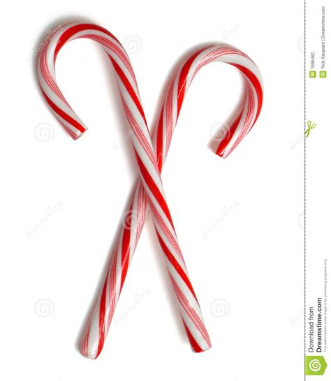 Dog Ornaments For Christmas Tree - two spiral pieces of candy stock photo image 1696460