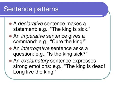 Sentence Pattern Analysis | ppt analysis of diction and syntax powerpoint
