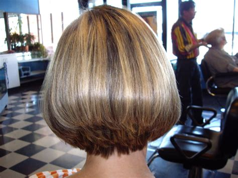 wedge stacked bob haircut wedge haircut with stacked back short hair styles