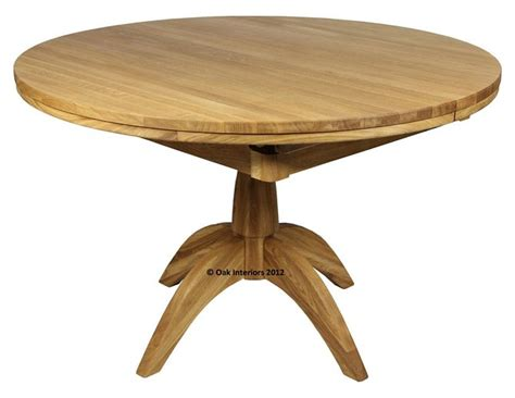 Extending Circular Dining Table Extending Solid Oak Dining Table From