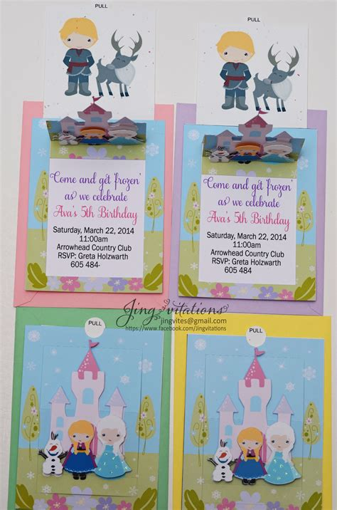 Handmade Frozen Invitations - birthday and baby shower invitations handmade frozen snow