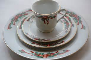 holiday dinnerware vintage christmas china table place