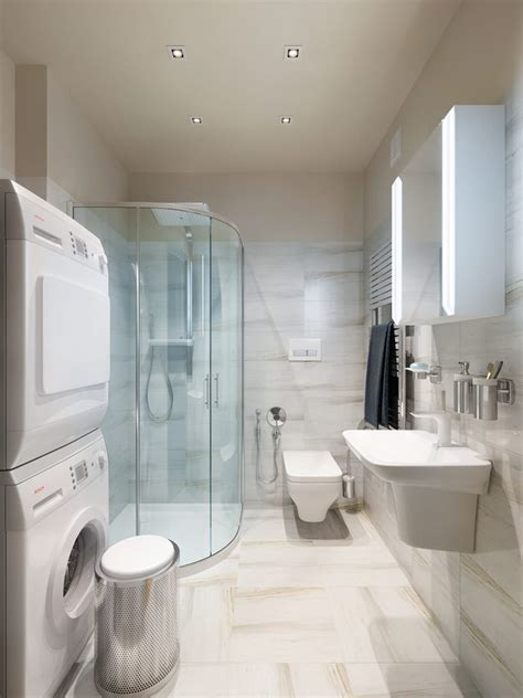 laundry in bathroom ideas three apartments with special lighting schemes