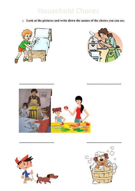 home chores household chores for kids worksheets www pixshark com