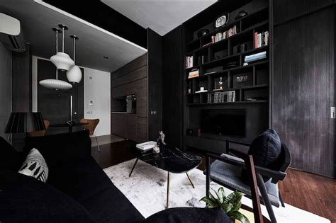 1 bedroom bachelor pad house tour dark colour palette in this stylish one