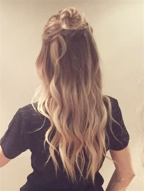 ombre half up half down hairstyles short curly natural hair tumblr hairs picture gallery