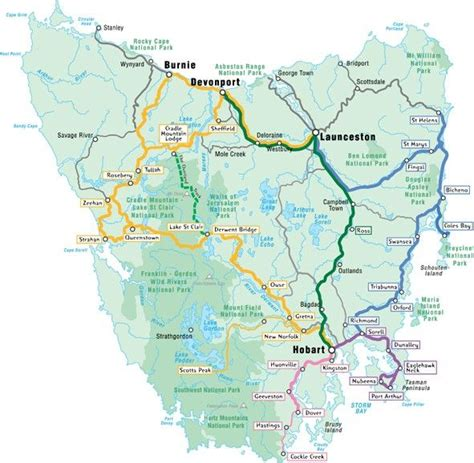 printable maps tasmania here is a no fuss map of tasmania showing the major