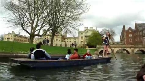 punt boat tour cambridge punt boat tour 2 england youtube