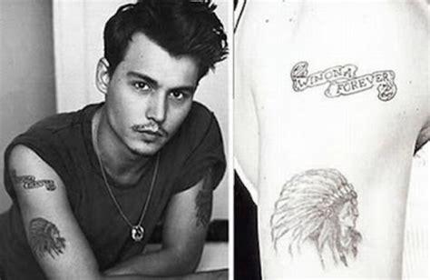 johnny depp tattoo regret a t 237 z leggyakoribb tetov 225 l 225 s starity hu