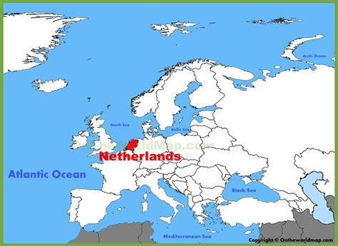 netherlands world map location where is the netherlands located on a map