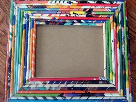 picture frame pattern ideas ilovethis recycled magazine picture frame diy