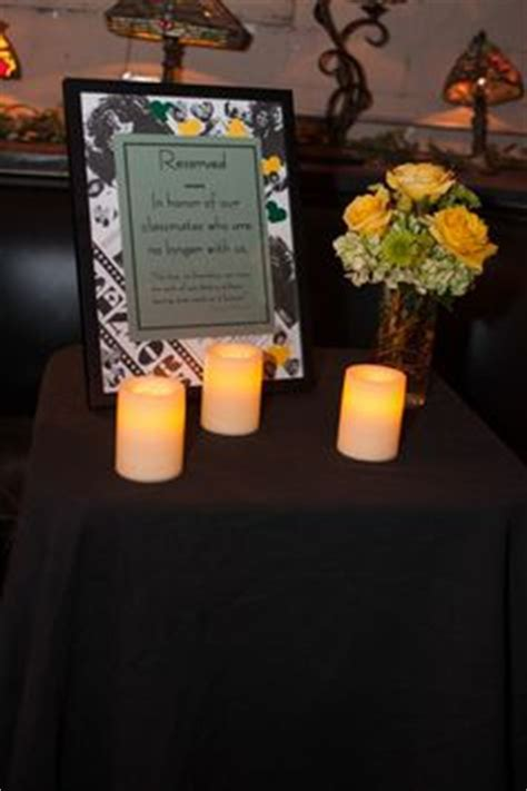Five Class Reunion Memorial Ideas 1000 Images About Memorial Table Ideas On