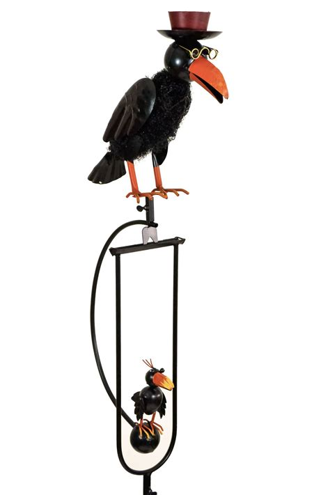 Rocking Bird Garden Ornament Rocking Balancing Black Baby Metal Garden Wind Rocker Ornament