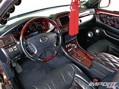 vip lexus ls430 interior 2001 lexus ls430 import tuner magazine