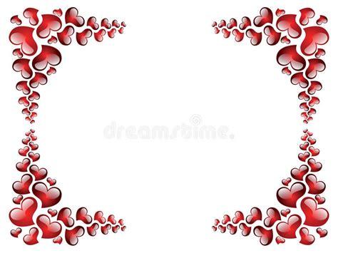 cornici san valentino cornice al san valentino illustrazione vettoriale