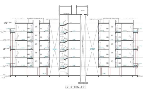 Lift Floor Plan by Architectural Portfolio Atria Housing Society At