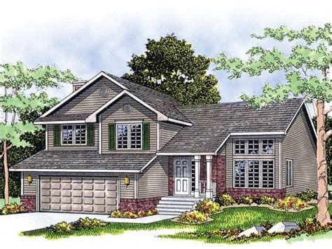 images of tri level homes with siding and stoneberry