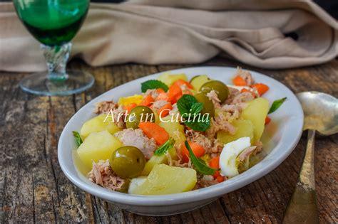 cucinare veloce e leggero insalata di tonno e patate veloce e saporita piatto