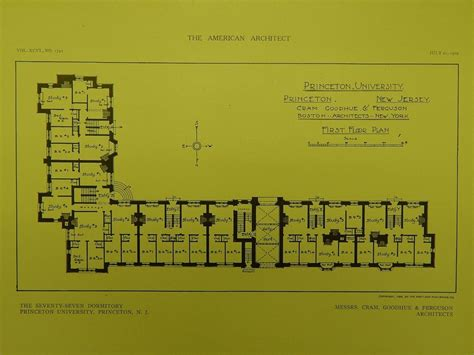 princeton university floor plans first floor seventy seven dormitory at princeton