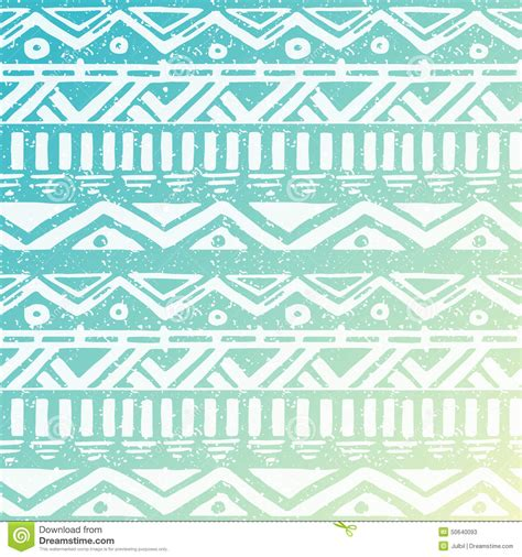 seamless tribal pattern hand drawn aztec tribal seamless background stock vector