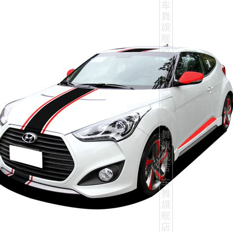 desain grafis cutting sticker motor veloster car styling whole body sticker personalized
