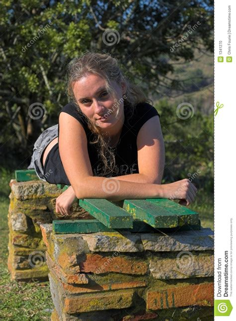 bench girl girl on bench stock photo image 1341270