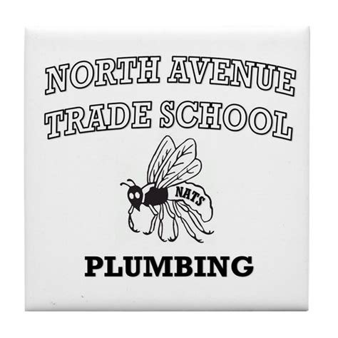 avenue trade school plumbing tile coaster by