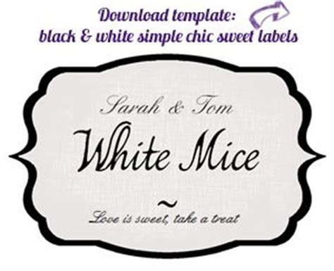 sweet labels template buffet labels template free just b cause