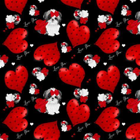shih tzu fabric shih tzu hearts fabric sherry savannah spoonflower