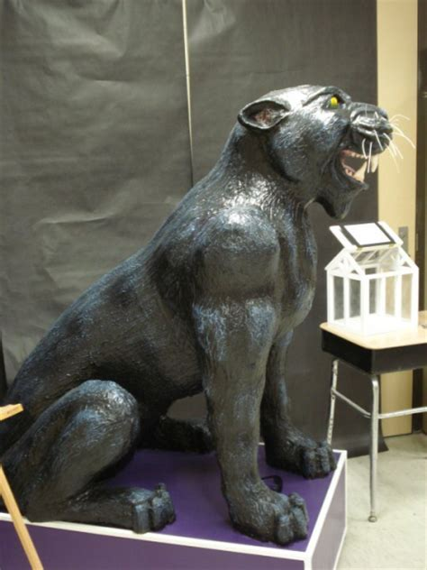 How To Make A Mascot From Paper Mache - paper mache panther school mascot for royal valley